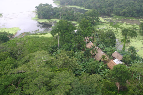 Embara village near Gamboa, along the Chagres river