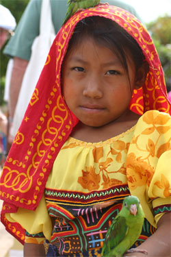 Kuna girl in traditional clothes - Click to enlarge